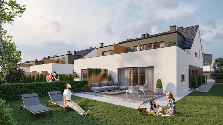 Inwestycja realizowana w Chmielowicach przy ul. Rubinowej. Powstają tam dwukondygnacyjne budynki, w każdym z nich mieszczą się cztery apartamenty. Lokale