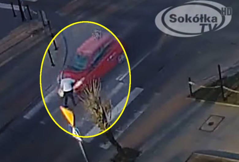 Potrącenie pieszen na pasach na przejściu w Sokółce
