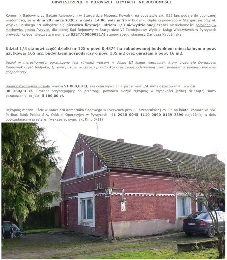 Licytacje komornicze domów na Pomorzu. Sprawdź ceny! [luty 2020]
