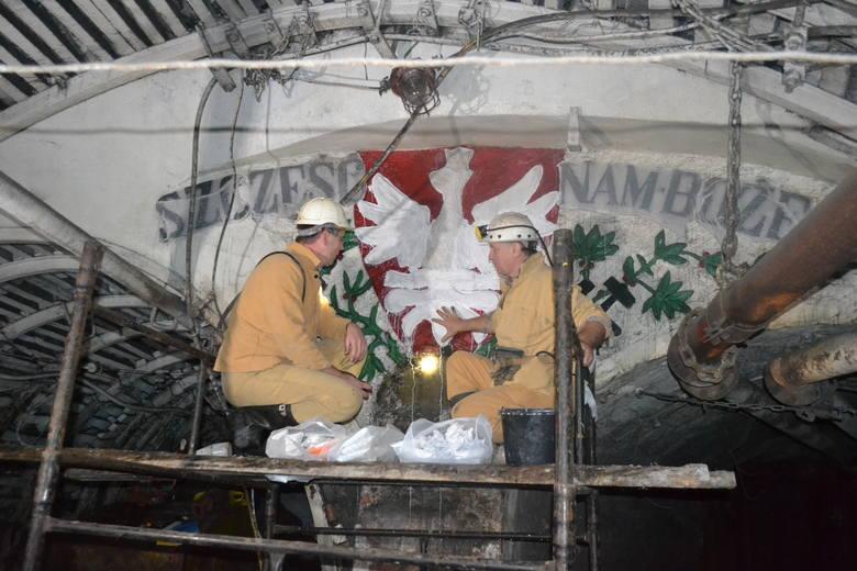 Zabytkowe orły z KWK Kazimierz-Juliusz zachowane dla potomnych