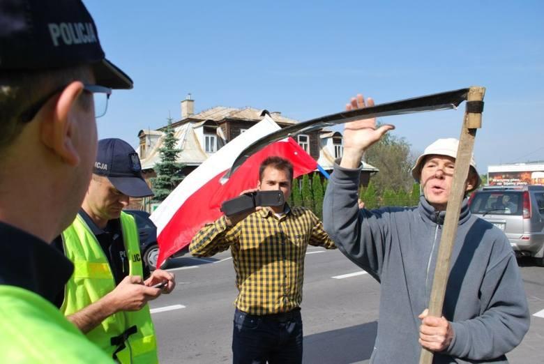 W Krasnymstawie rolnicy protestowali w obronie polskiego cukru