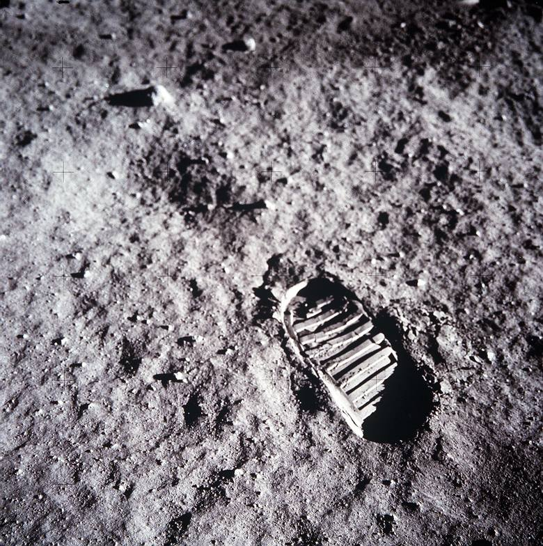 Ślad buta Buzza Aldrina.