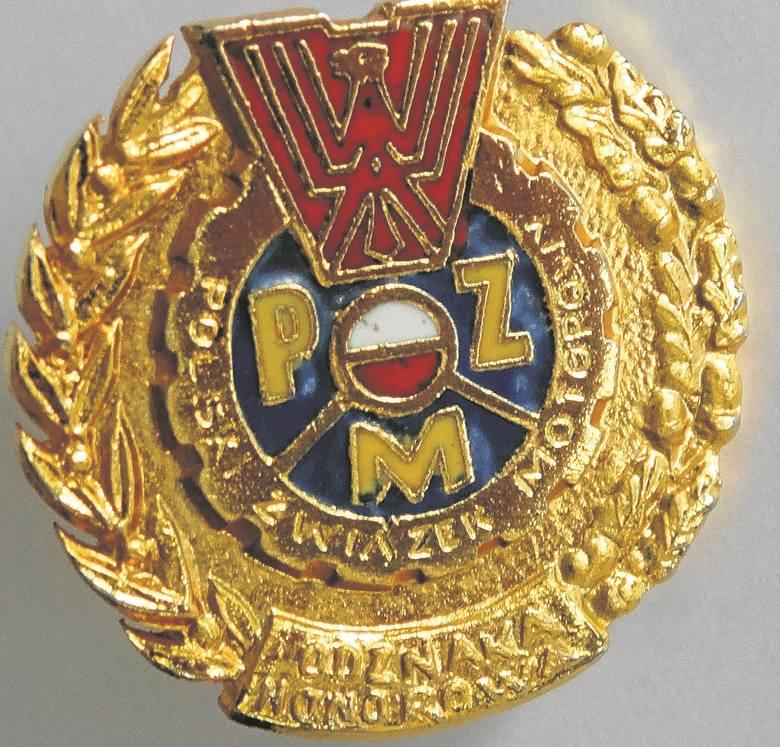 Odznaka honorowa Polskiego Związku Motorowego.