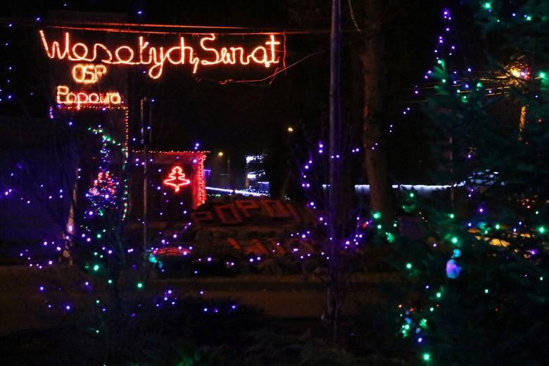 popowo iluminacja świąteczna