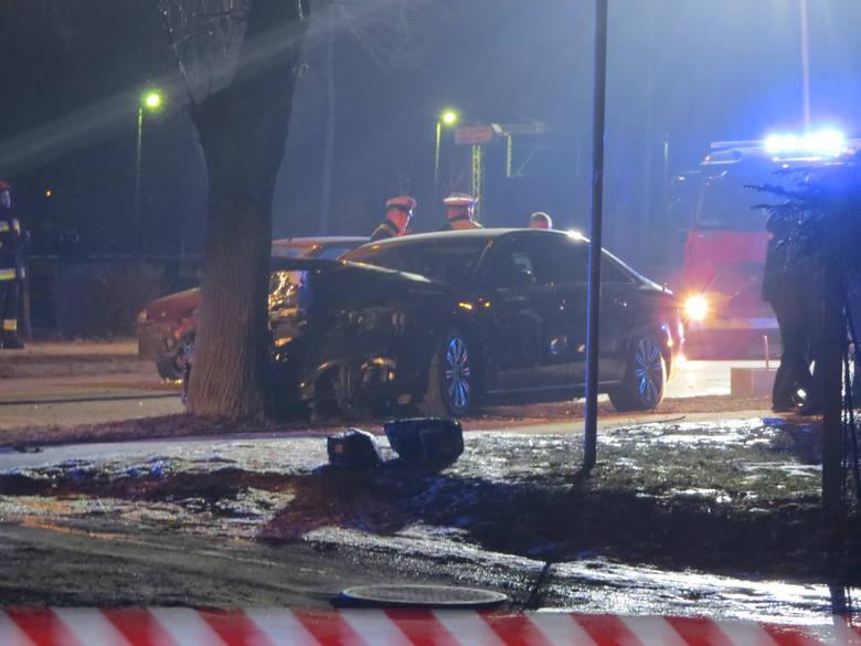 Zdjęcia wykonane tuż po wypadku w Oświęcimiu, 10 lutego 2017 r.