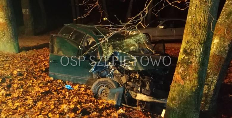 Do tego tragicznego w skutkach zdarzenia doszło we wtorek wieczorem, na trasie Szepietowo - Szepietowo Wawrzyńce. Zdjęcia pochodzą ze strony: OSP Sz