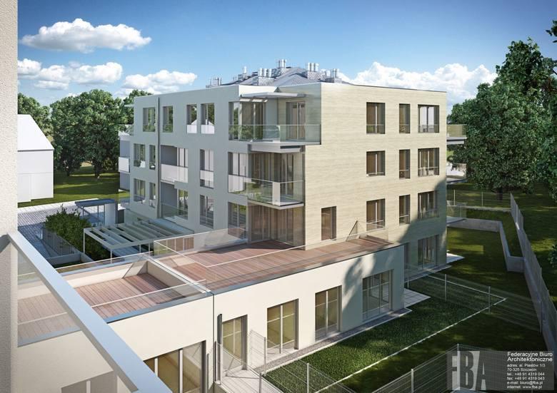 Uwagę przyciąga architektura osiedla - eleganckie bryły, naturalne materiały