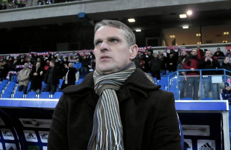 20.11.2011, Kraków: jako trener Wisły w starciu z Górnikiem Zabrze