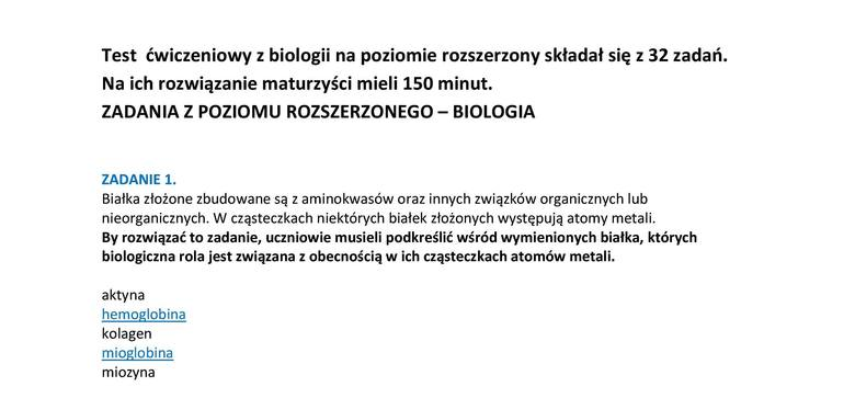 Matura 2014: Próbna z biologii napisana [ARKUSZE, ODPOWIEDZI]