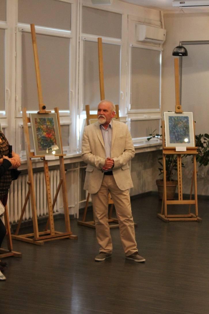 W Saloniku Literacko-Artystycznym inowrocławskiej Biblioteki Miejskiej im. J. Kasprowicza odbył się wernisaż wystawy prac malarskich Michała Siewkowskiego,
