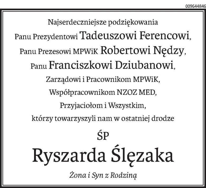Nekrologi i Kondolencje z dnia 03 kwietnia 2020 roku