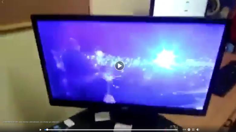 Kadr z udostępnionego filmu w internecie