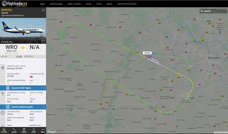 Mój Reporter: Samolot Ryanair wystartował i za chwilę wylądował we Wrocławiu. O co chodzi?