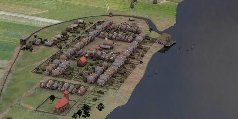 Tak mogła wyglądać średniowieczna Nieszawa - rekonstrukcja na podstawie badań z początku ubiegłej dekady