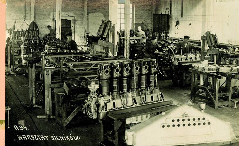 Warsztat silników. Fabryka nie tylko produkowała, ale i remontowała