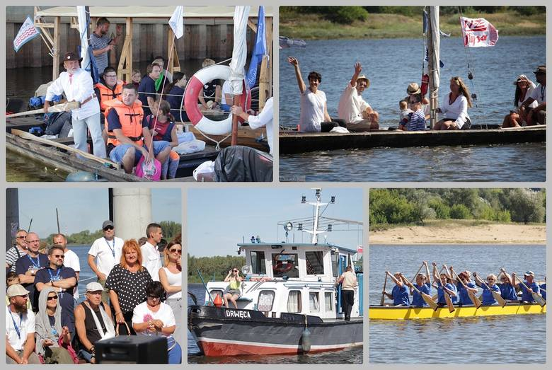 I znów na Wiśle zaroiło się od łodzi wszelakiej maści. Festiwal Wisły przyciągnął właścicieli drakkarów, berlinek, szkut, galarów i innych statków i