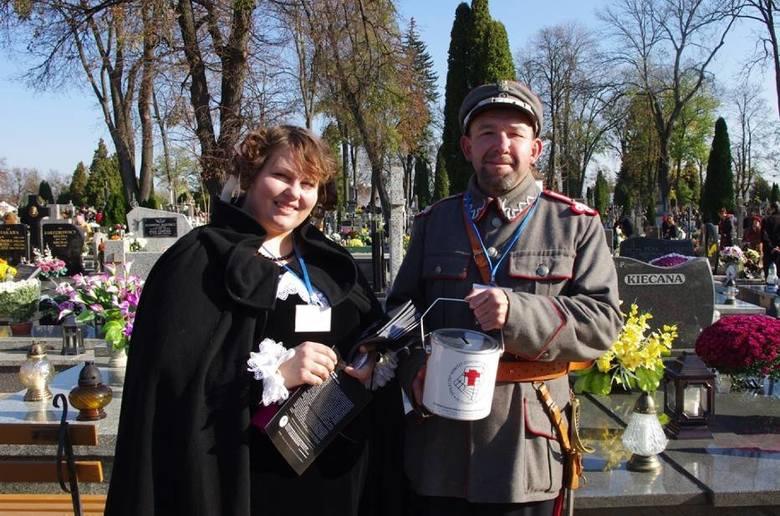 Kwesta na cmentarzu przy ul. Peowiaków w Zamościu