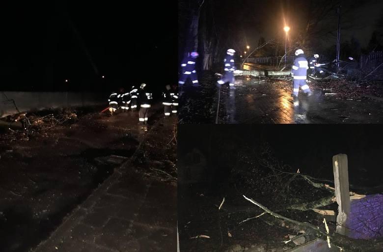 W piątek nad nasz region nadciągnął kolejny w ostatnich tygodniach front z silnym wiatrem. Za strażakami w naszym regionie bardzo trudna noc.Strażacy