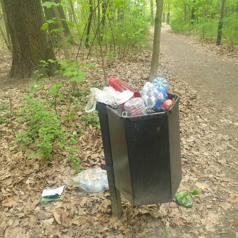 Po prostu wstyd. Park 3 Maja straszy śmieciami. Nie ma gospodarza?