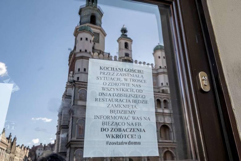 W związku z wprowadzeniem w Polsce stanu zagrożenia epidemiologicznego zamknięte zostały muzea, galerie, sklepy w galeriach handlowych, a restauracje