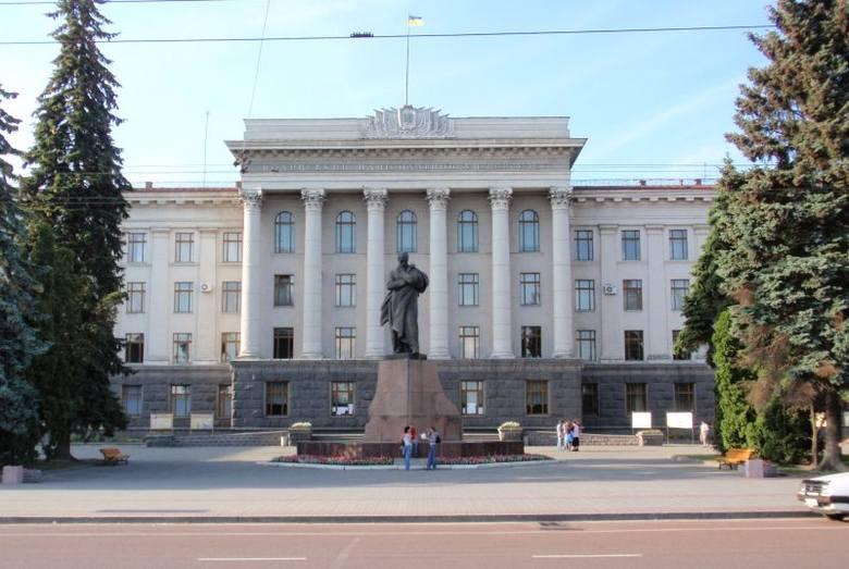 Główny gmach uniwersytetu w Łucku, rok 2012.