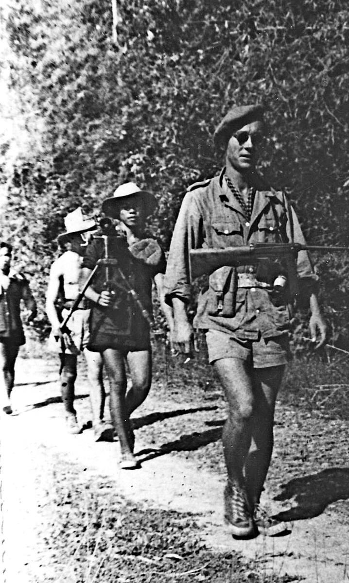 Zygmunt Jatczak na patrolu w Cu Chi. 1951 r.