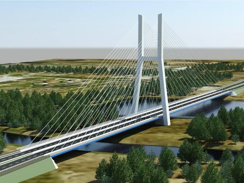 Nowy most w ciągu północnej obwodnicy miasta.