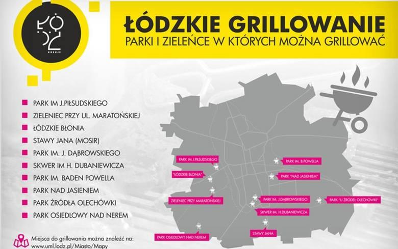 Gdzie legalnie grillować w Łodzi? Miasto udostępniło mapę miejsc do grillowania [LISTA, MAPA]. Rozpoczynamy sezon grillowy.