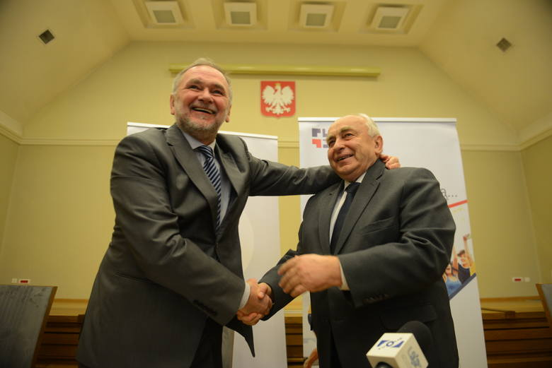 rektor UZ Tadeusz Kuczyński i rektor PWSZ Marian Miłek
