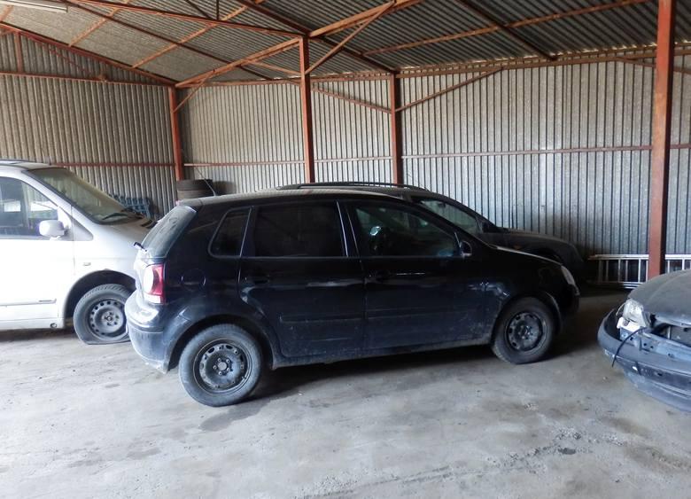 Volkswagen trafił na policyjny parking