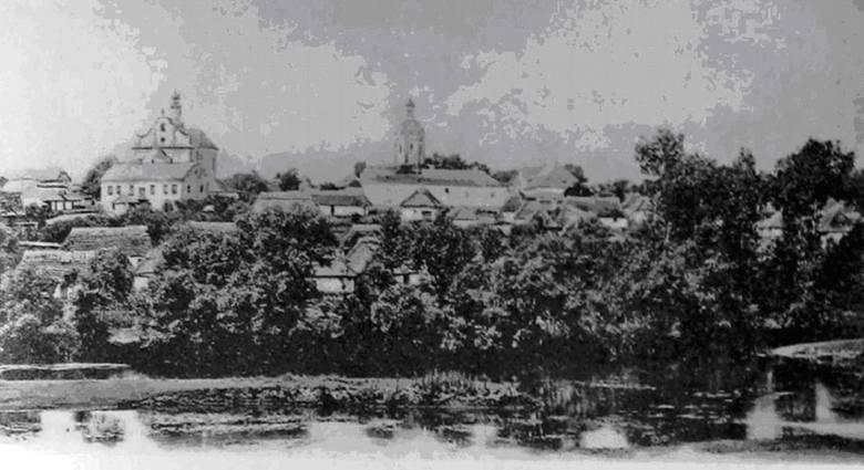 Panorama Wiśniowczyka - widok z początku XX wieku.