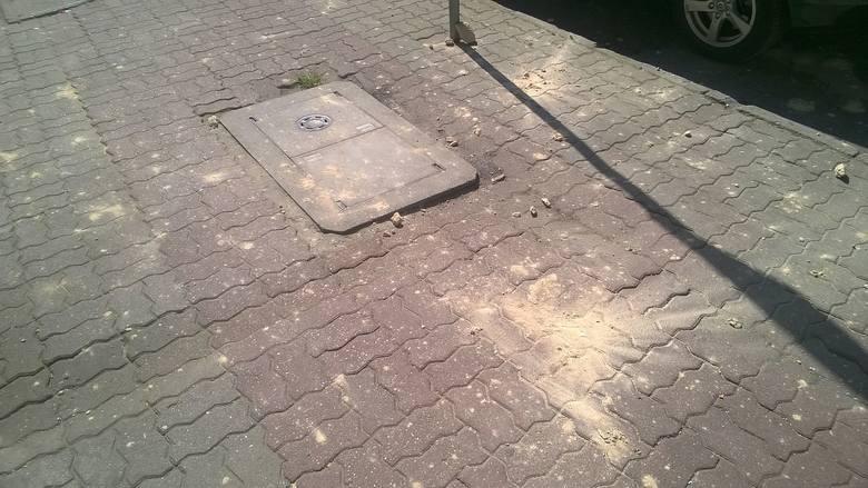 Duże fragmenty gzymsu odpadają z elewacji kamienicy przy ul. Armii Polskiej 40 i spadają na chodnik.