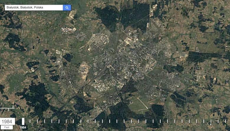 Jak zmieniał się Białystok rok po roku? Łatwo to sprawdzić na interaktywne mapie Google Earth. Można tam zobaczyć zdjęcia satelitarne naszego miasta