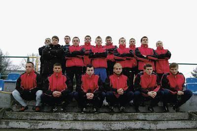 Od lewej - stoją: Zygmunt Juda, Marcin Gędłek, Piotr Chuderski, Tomasz Miś, Krzysztof Dukała, Marcin Zemanek, Przemysław Cecuga, Jakub Kacprzak, Paweł