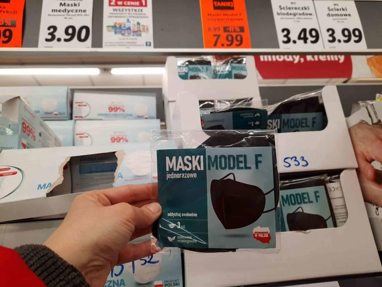 W sklepach można kupić takie maseczki:Lidl - maska jednorazowa Model F, 3 szt. - 7,99 złZobacz kolejne zdjęcia. Przesuwaj zdjęcia w prawo - naciśnij