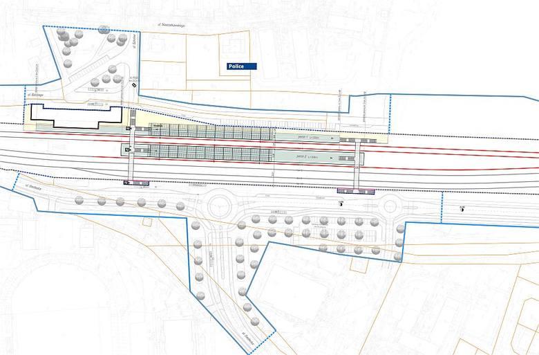 Szczecińska Kolej Metropolitalna. Dwa nowe ronda. Zmieni się układ drogowy w ramach przygotowań. ZDJĘCIA i MAPY