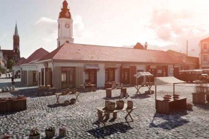 Rynek Kościuszki w okresie miedzywojennym. Animacja 3D (zdjęcia, wideo)