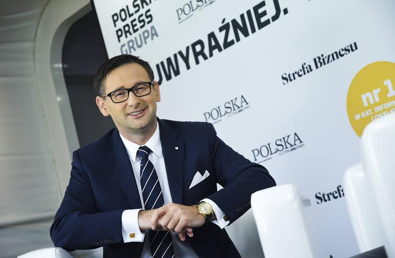 Daniel Obajtek, prezes zarządu PKN Orlen podczas XXIX Forum Ekonomicznego w Krynicy