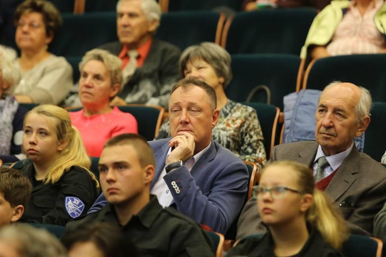 Konferencja dotycząca Krajowej Mapy Zagrożeń Bezpieczeństwa w Wyższej Szkole Humanitas w Sosnowcu.