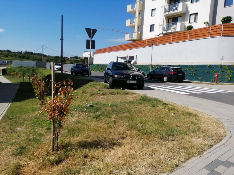 Rzeszów, ulica Solińska na osiedlu Przybyszówka.