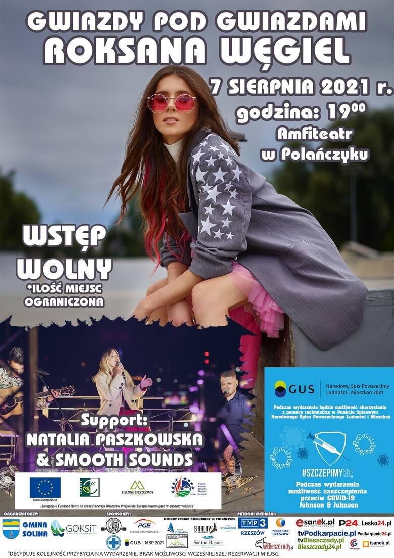 """Roksana Węgiel w Polańczyku. 7 sierpnia odbędzie się koncert w ramach imprez """"Gwiazdy Pod Gwiazdami"""""""