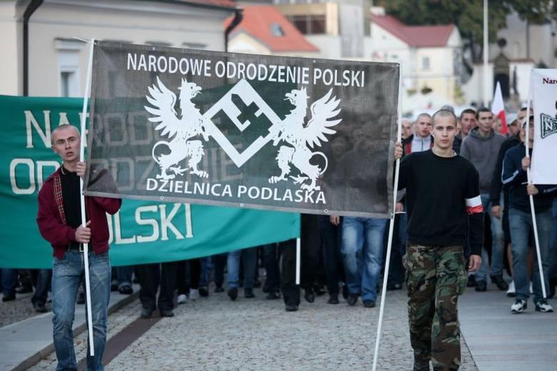 Marsz nacjonalistów. NOP zorganizowało manifestację (zdjęcia, wideo)