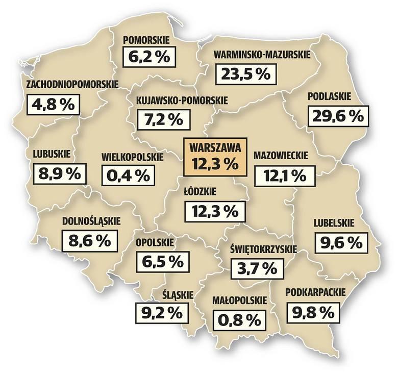 W Łódzkiem aż 13 papierosów na 100 jest nielegalnych