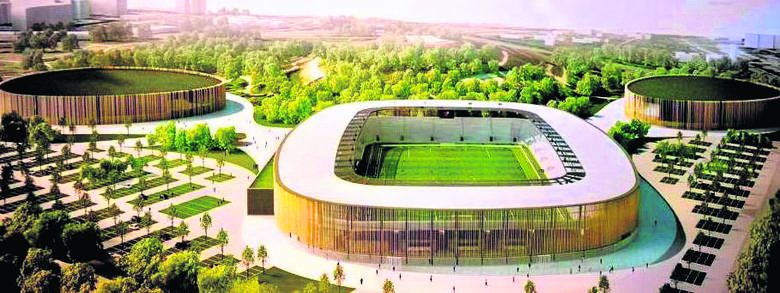Tak prezentować się ma Zagłębiowski Park Sportowy na Górce Środulskiej. Stadionowi piłkarskiemu towarzyszyć mają nowoczesne lodowisko i hala sportow