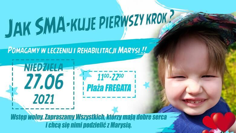 """Impreza pod nazwą """"Jak SMA-kuje pierwszy krok? Pomagamy w leczeniu i rehabilitacji Marysi!!"""" odbędzie się w niedzielę 27 czerwca w godzinach 11-22 na"""