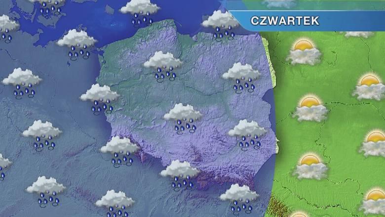 Pogoda w Opolu i na Opolszczyźnie. Czwartek pochmurny i deszczowy