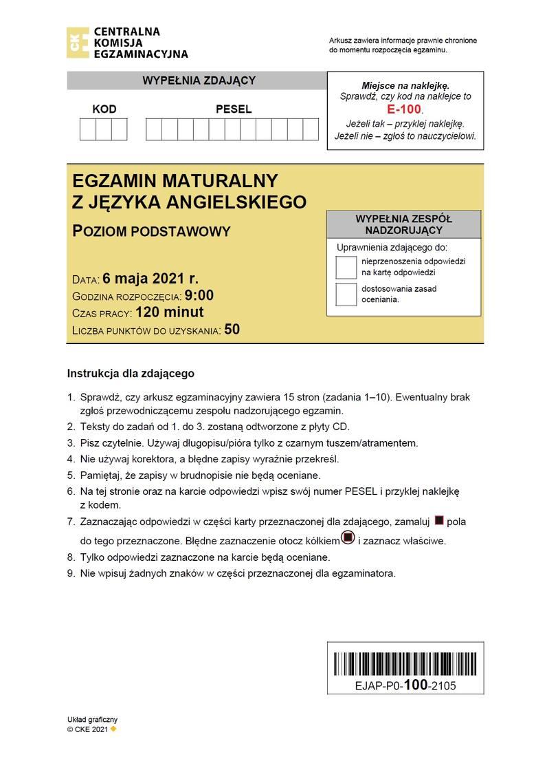 W tym materiale na bieżąco będziemy dodawać odpowiedzi do matury z angielskiego (poziom podstawowy).Arkusz pojawił się po godz. 14 na stronach CKE.