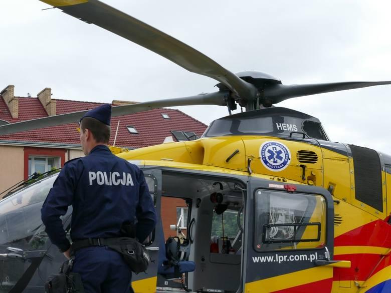 Śmigłowiec Lotniczego Pogotowia Ratunkowego lądował w centrum Koszalina [ZDJĘCIA]