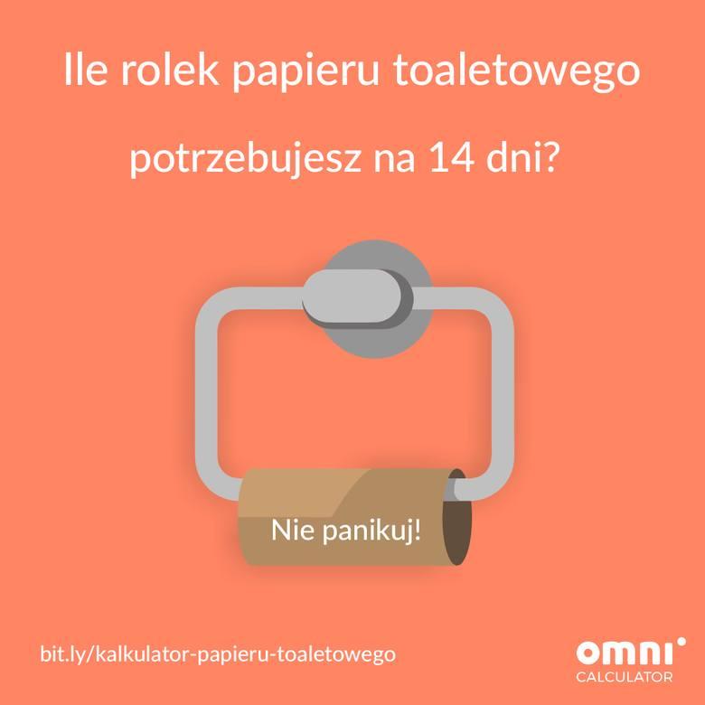 Pierwszy polski... kalkulator papieru toaletowego! Ile rolek potrzeba, by przetrwać kwarantannę?