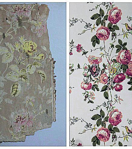 Tapeta, która obecnie znajduje się w łazience na pierwszym piętrze, powstała na wzór tapety, której fragment znaleziono za szafą podczas prac konserwatorskich w latach 90. Na ścianach znalazła się w 2013 roku,  muzeum długo poszukiwało firmy, która zdecyduje się odtworzyć wzór.